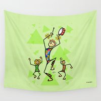 drums Wall Tapestries featuring Carnival harlequin by Giuseppe Lentini