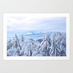 White out #mountains #winter Art Print