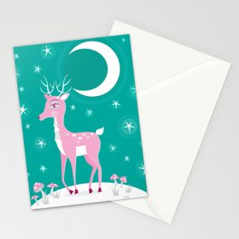 Rare Pink Fawn Stationery Cards