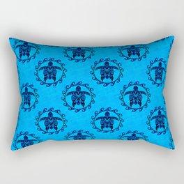 Tribal Turtle Sun Pattern Rectangular Pillow
