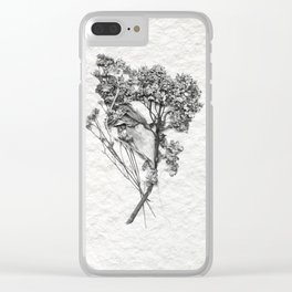 Bouquet of Flowers on Water Color Paper Clear iPhone Case