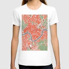 Rome city map classic T-shirt
