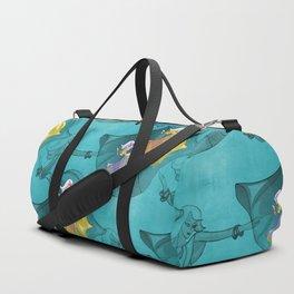 discopatttern turquoise -1a- Duffle Bag