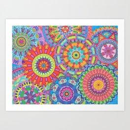 Mandala Explosion Art Print