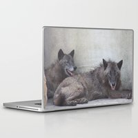 wolves Laptop & iPad Skins featuring Wolves by Twilight Wolf