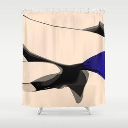Falling Shower Curtain