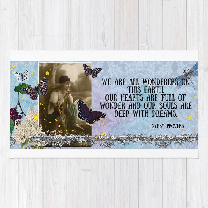 We are all wonderers of this earth Rug