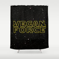 vegan Shower Curtains featuring Vegan Force by Spyck