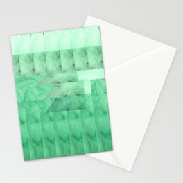 Marble Print Green Stationery Cards