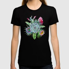 Exotic flower garden T-shirt