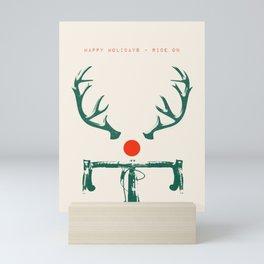 Rudolf the Red Nosed Bike Mini Art Print