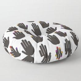 Black & White Pop Hands Floor Pillow