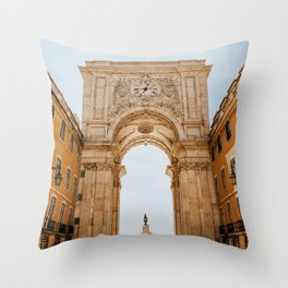 The Arch Way (Color) Throw Pillow