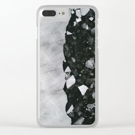 Winters Edge - Aerial Photography Clear iPhone Case