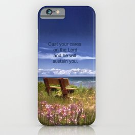 Cast Your Cares on the Lord iPhone Case