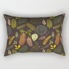My favorite color is october- autumnal leaves pattern Rectangular Pillow
