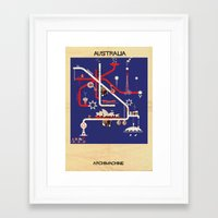 australia Framed Art Prints featuring Australia by federico babina