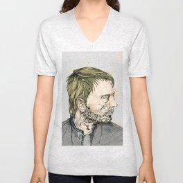 Thom Yorke Print Unisex V-Neck