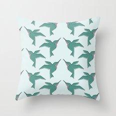 Origami Hummingbirds Throw Pillow