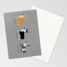 corgi, siborgi, and cybogi Stationery Cards