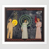 sisters Art Prints featuring Sisters by Canson City
