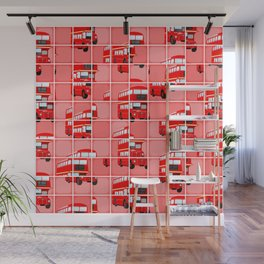 London Bus Pixel Puzzle Wall Mural