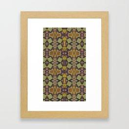 Classic primitive pattern Framed Art Print