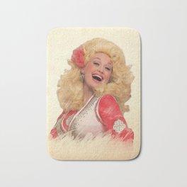 Dolly Parton - Watercolor Bath Mat
