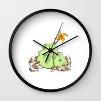 my little pony Wall Clocks featuring My Little Pony: Robert by aredblush