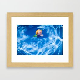 Mermaid in the pool Framed Art Print