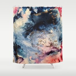 Rage - Alcohol Ink Painting Shower Curtain