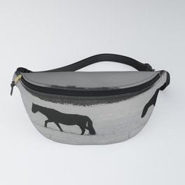 Horses On Snow Fanny Pack