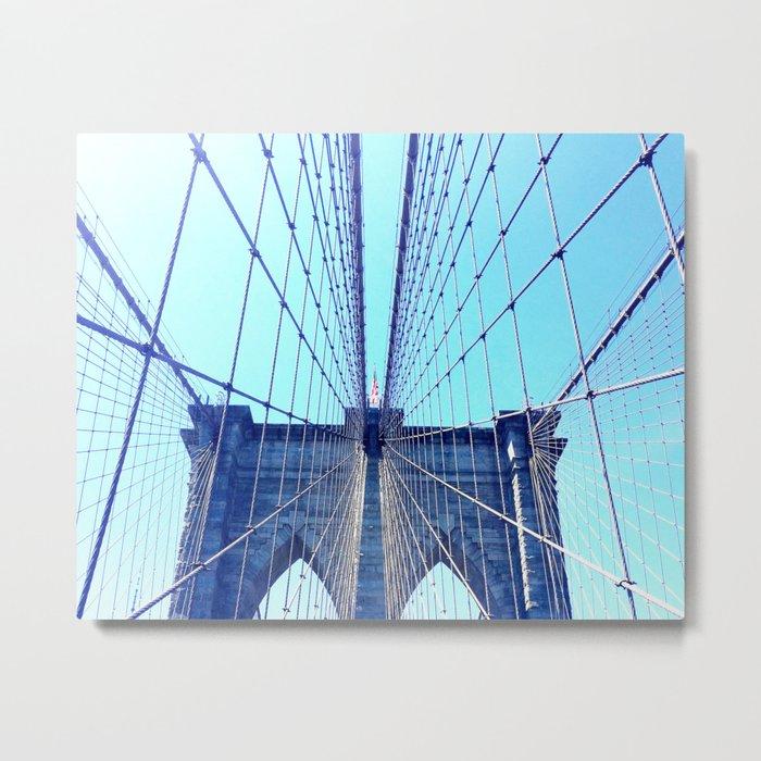 BROOKLYN BRIDGE - LIGHTER Metal Print