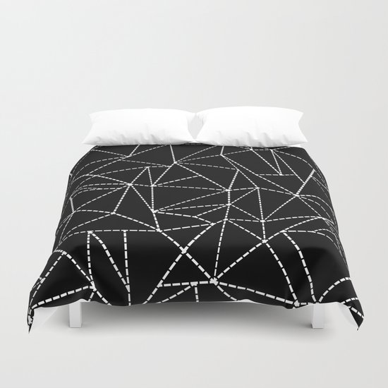 Ab Dotted Lines   Duvet Cover