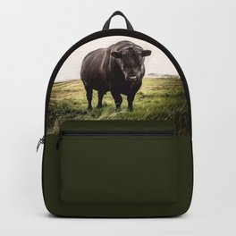 Big Black Angus Bull Backpack