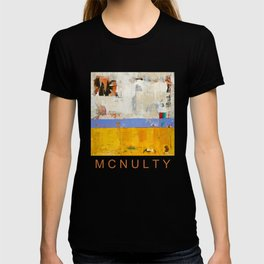 Amenity Abstract Landscape Yellow Modern Shawn McNulty T-shirt