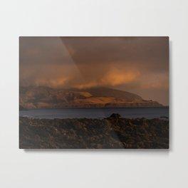 Cape Palliser Moody Setting Sun Metal Print