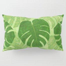 Monstera Tropical Leaf Pillow Sham