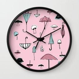 Mushroom Umbrella Wall Clock
