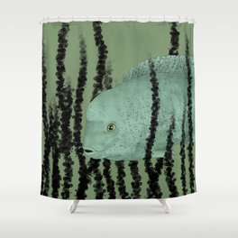 Under water Funky Fish Shower Curtain