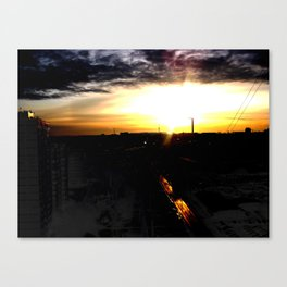 Fire in the sky(1) Canvas Print
