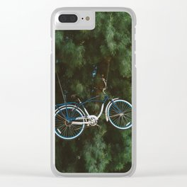 Bicycle Tree Clear iPhone Case
