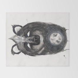 Selene the Moon Bear. Throw Blanket