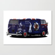 vw campervan The magic bus Canvas Print