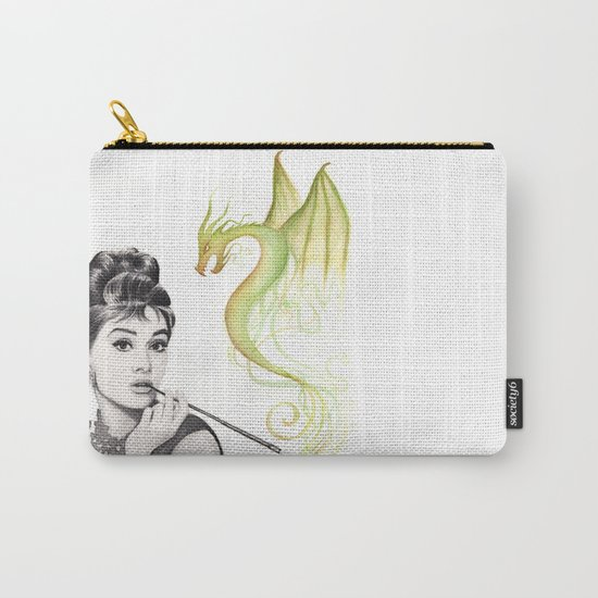 Audrey Hepburn Smoking and Dragon Carry-All Pouch