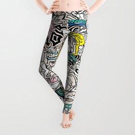 Kamasutra LOVE Doodle Closeup Color Valentine Leggings