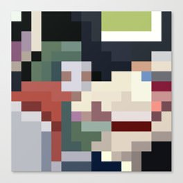 Mm Pixel Food Canvas Print