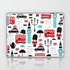 London icons illustration pattern print Laptop & iPad Skin