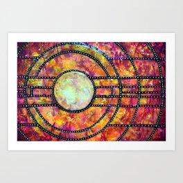 Split Sunrise Art Print