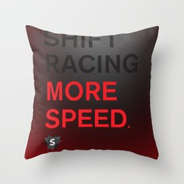 More Speed Throw Pillow